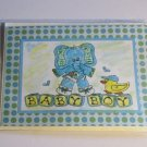 """Baby Boy Elephant - 5x7"""" Greeting Card with envelope"""