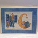 "Baby Boy Moon - 5x7"" Greeting Card with envelope"