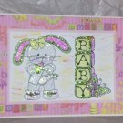 """Baby Girl Bunny - 5x7"""" Greeting Card with envelope"""