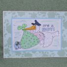 """It's A Boy b - 5x7"""" Greeting Card with envelope"""