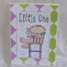 """Little One Girl - 5x7"""" Greeting Card with envelope"""