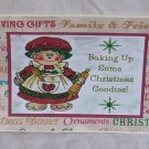 """Baking Up Some Christmas Goodies - 5x7"""" Greeting Card with envelope"""