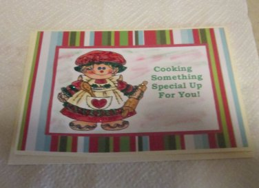 """Cooking Something Special Up For You a - 5x7"""" Greeting Card with envelope"""