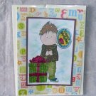 "Birthday Balloon Boy 1 - 5x7"" Greeting Card with envelope"