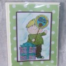 "Birthday Balloon Boy 2 - 5x7"" Greeting Card with envelope"