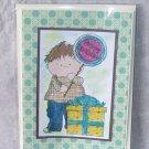 "Birthday Balloon Boy 5 - 5x7"" Greeting Card with envelope"