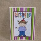 """Birthday Wishes Girl - 5x7"""" Greeting Card with envelope"""