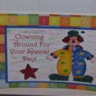"""Clowning Around For Your Special Day - 5x7"""" Greeting Card with envelope"""