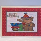 """Happy Birthday Bear 1 - 5x7"""" Greeting Card with envelope"""