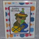 "Happy Birthday Bear 2 - 5x7"" Greeting Card with envelope"