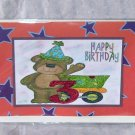 """Happy Birthday Bear 3 - 5x7"""" Greeting Card with envelope"""