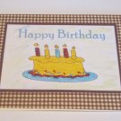 "Happy Birthday Cake Guy a - 5x7"" Greeting Card with envelope"
