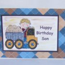 """Happy Birthday Son - 5x7"""" Greeting Card with envelope"""