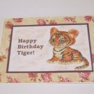 "Happy Birthday Tiger a - 5x7"" Greeting Card with envelope"