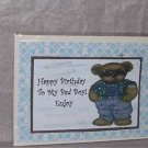"Happy Birthday To My Bad Boy - 5x7"" Greeting Card with envelope"