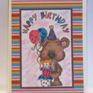 """Happy Birthday Wee Bear 1 - 5x7"""" Greeting Card with envelope"""