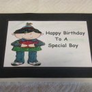 "Happy Birthday To A Special Boy a - 5x7"" Greeting Card with envelope"