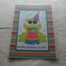 "Happy Birthday To You Girl Frog - 5x7"" Greeting Card with envelope"