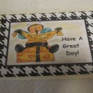 "Have A Great Day Bee b - 5x7"" Greeting Card with envelope"