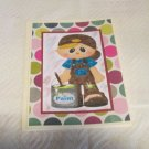 """Boy Painter - 5x7"""" Greeting Card with envelope"""