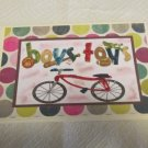 "Boys Toys - 5x7"" Greeting Card with envelope"