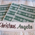 Christmas Angels b a - 4pc Mat Set