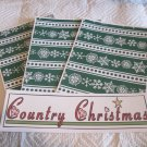 Country Christmas a - 4pc Mat Set