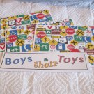 Boys and Their Toys c - 4pc Mat Set