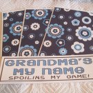 Grandma's My Name a - 4pc Mat Set