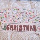 Merry Christmas 1b - 4pc Mat Set
