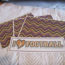 I Love Football a - 4pc Mat Set