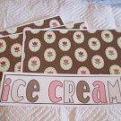 Ice Cream a - 4pc Mat Set