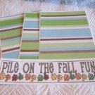 Pile On The Fall Fun b - 4pc Mat Set