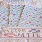 Pitter Patter b - 4pc Mat Set