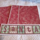 Santa Blocks b - 4pc Mat Set