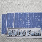 Winter Fun a - 4pc Mat Set