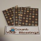 Count Your Blessings Boy - 4pc Mat Set