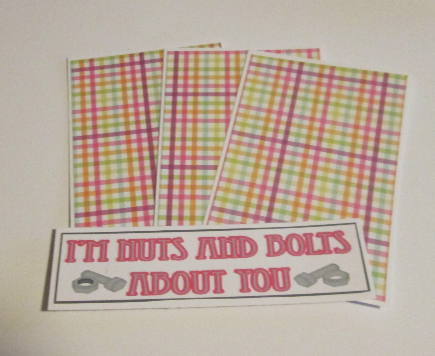 I'm Nuts and Bolts About You - 4pc Mat Set