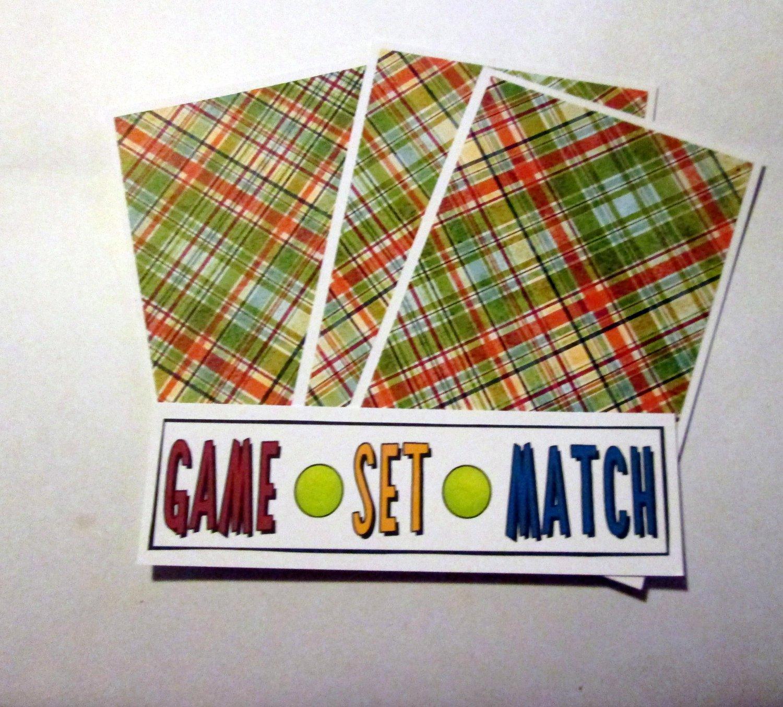 Game Set Match - 4pc Mat Set