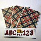 ABC 123 Bus c - 4pc Mat Set
