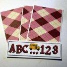ABC 123 Bus d - 4pc Mat Set