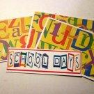 School Days b - 4pc Mat Set
