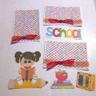 School Girl 1 a3 - Printed Piece/Title & Mats set