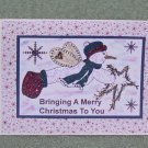 "Bringing A Merry Christmas To You a - 5x7"" Greeting Card with envelope"