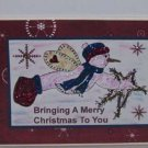 "Bringing A Merry Christmas To You - 5x7"" Greeting Card with envelope"