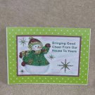 "Bringing Good Cheer From Our House - 5x7"" Greeting Card with envelope"