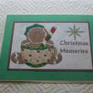 """Christmas Memories a - 5x7"""" Greeting Card with envelope"""