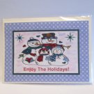 "Enjoy The Holidays - 5x7"" Greeting Card with envelope"