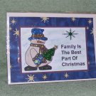"Family Is The Best Part of Christmas - 5x7"" Greeting Card with envelope"