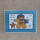 """Happy Holidays Gingerbread Man 2  - 5x7"""" Greeting Card with envelope"""